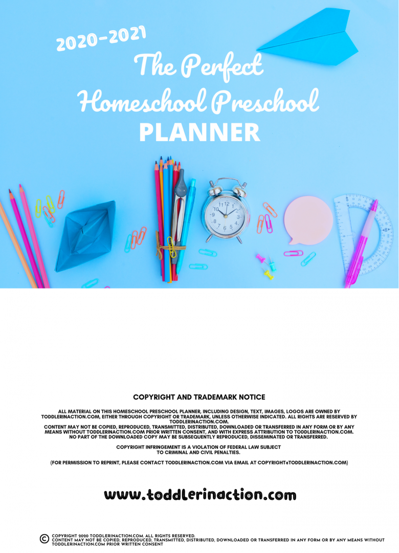 Homeschool Preschool Schedule Editable Template