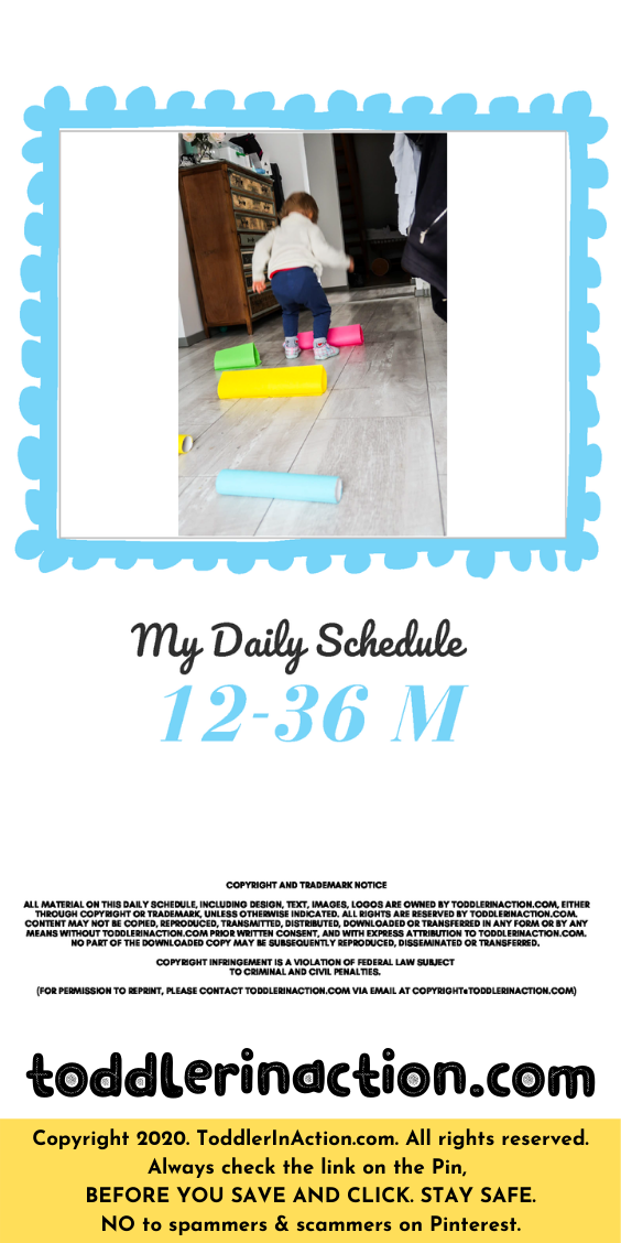 Super simple DAILY TODDLER SCHEDULE Blue Editable Printable