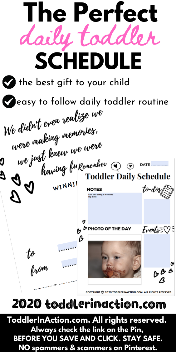 DAILY TODDLER SCHEDULE 4 Seasons Black & White Toddler/Baby Book