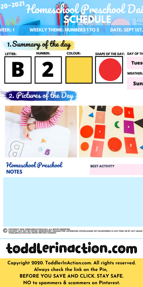 Homeschool Preschool Planner & Materials Editable Printable
