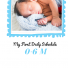 Baby Schedule 0-6 m