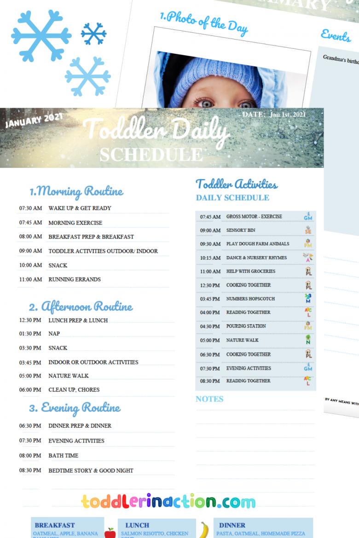 Toddler Schedule 2021