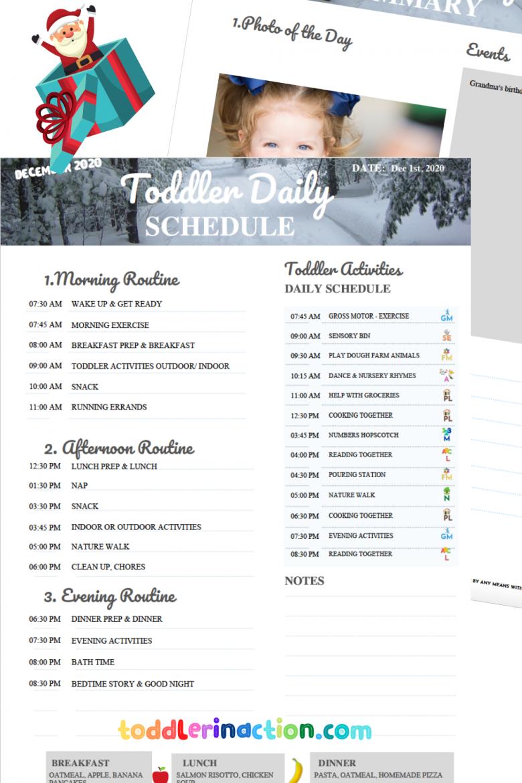 Toddler Schedule 2020