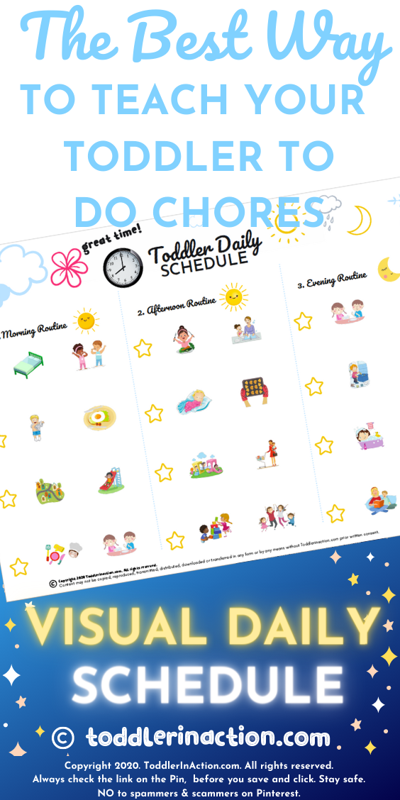 TODDLER CHORES VISUAL DAILY SCHEDULE