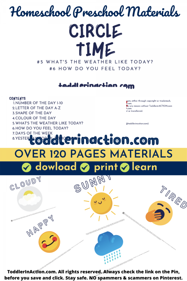Homeschool Preschool Printables Circle Time Materials