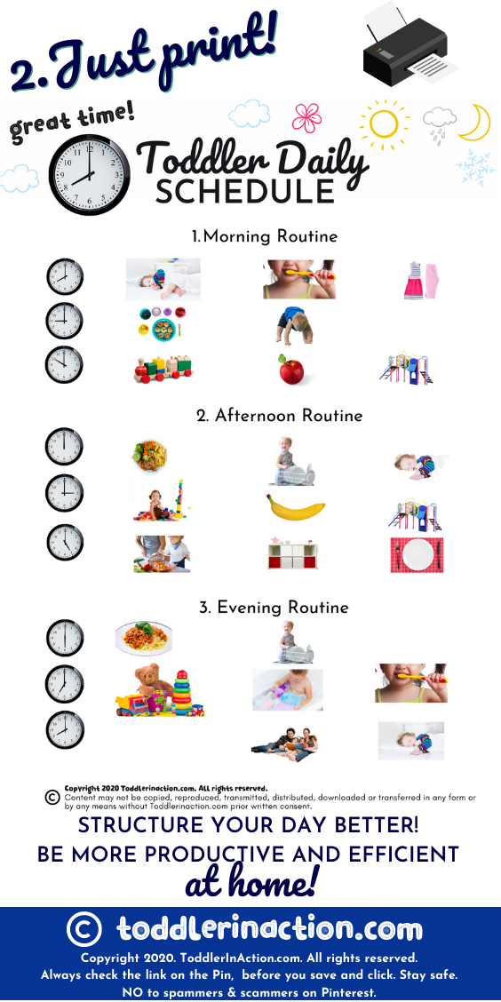 Daily Routines Visual Daily Toddler Schedule