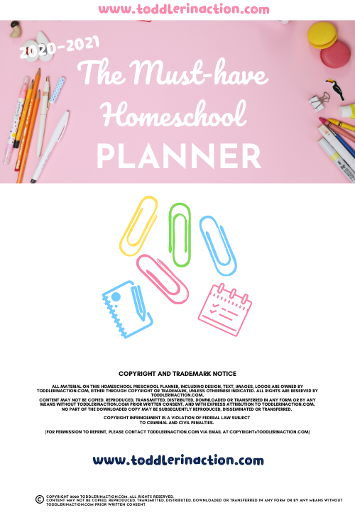 The Must-Have Homeschool Planner Printable Pink