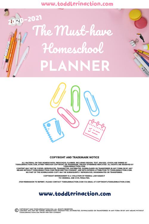 The Must-Have Homeschool Planner Printable Pink