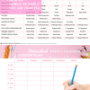 Homeschool WEEKLY schedule Pink21