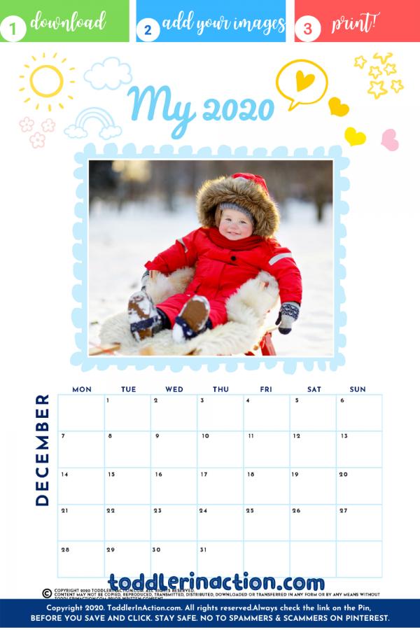 Baby & Toddler Calendar 2020 2021