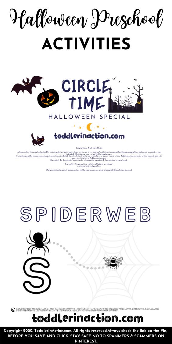 Halloween Homeschool Preschool Printables