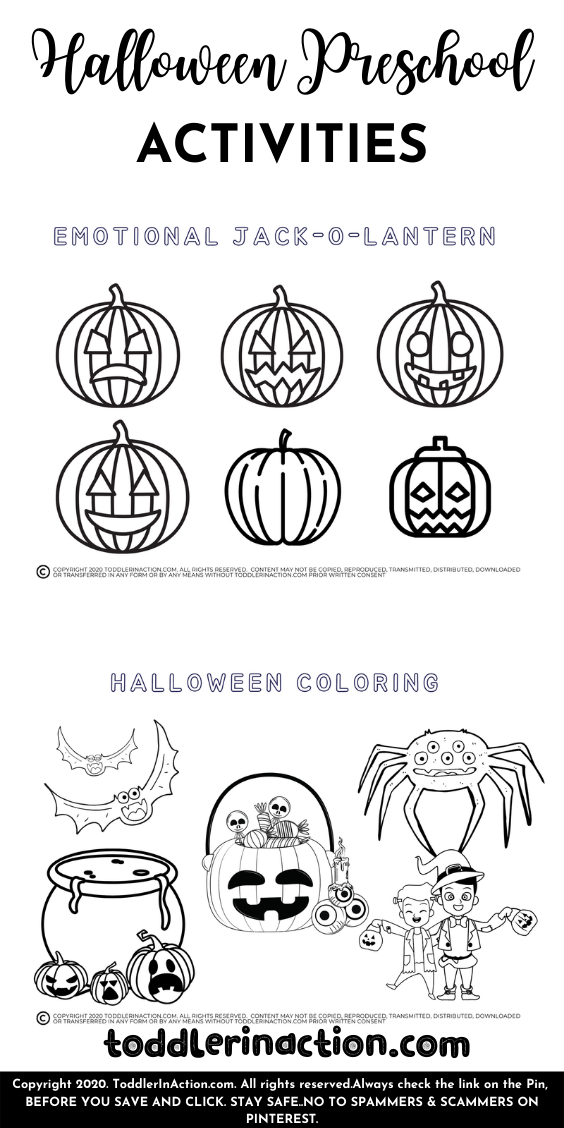 Halloween Preschool Printable