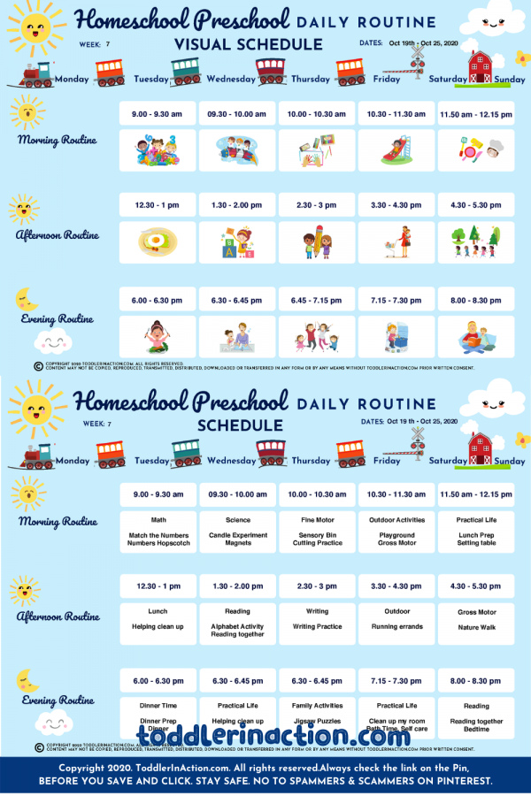Home School Schedule Preschool Daily Routines10