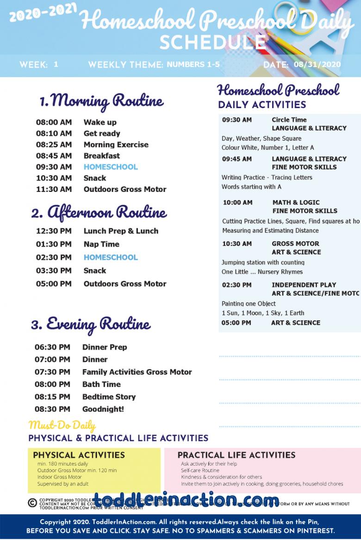 Home School Schedule Preschool Daily Routines9