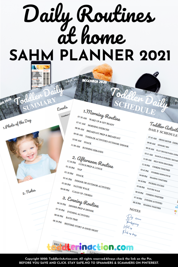 TODDLER SCHEDULE 2020/2021 Printable DAILY ROUTINES AT HOME
