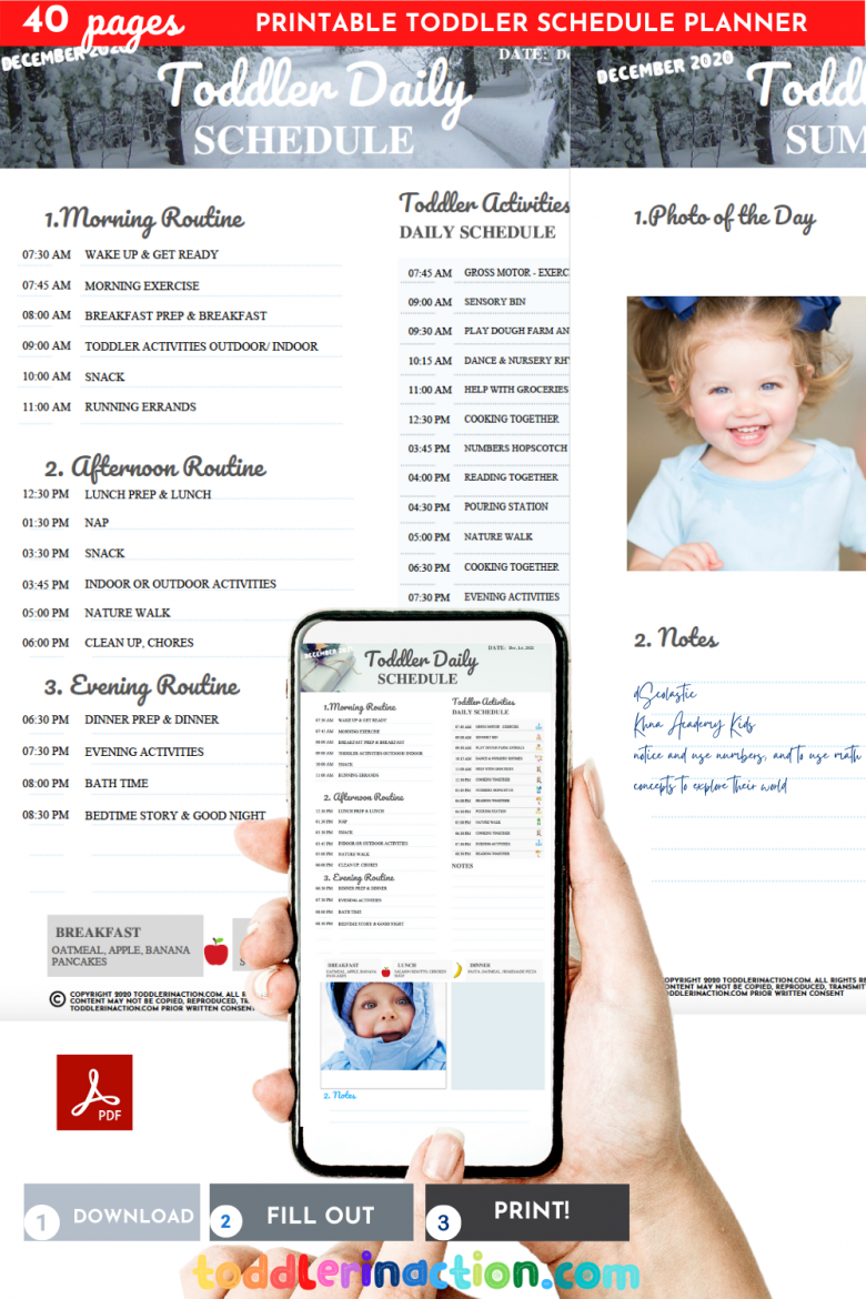 Toddler Daily Schedule Routine at Home18