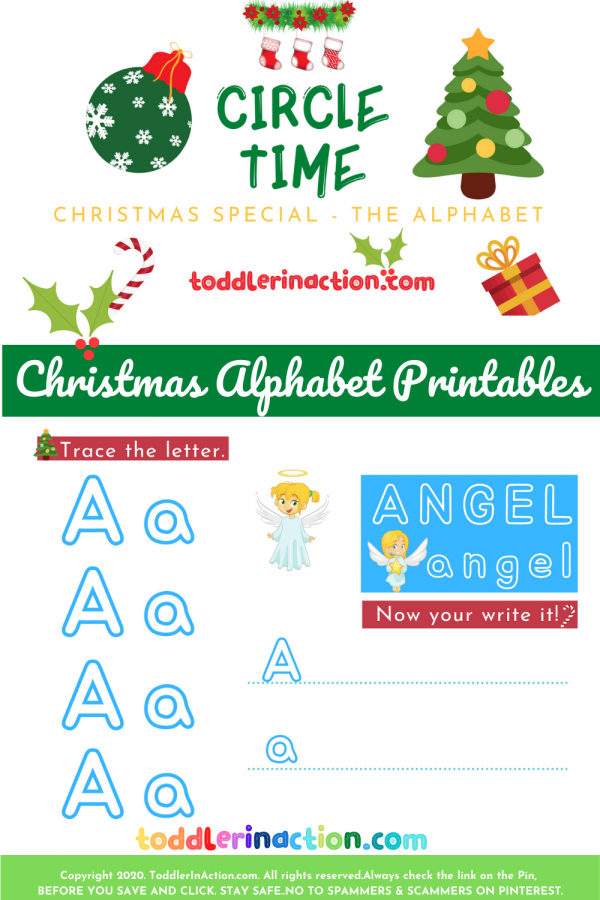 Christmas Activities Busy Book Printable Alphabet