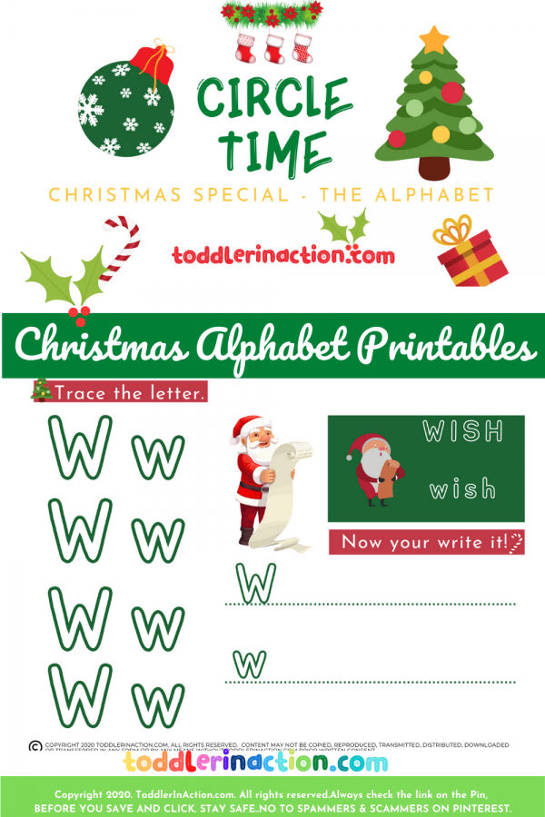 Christmas Activities Busy Book Printable Alphabet