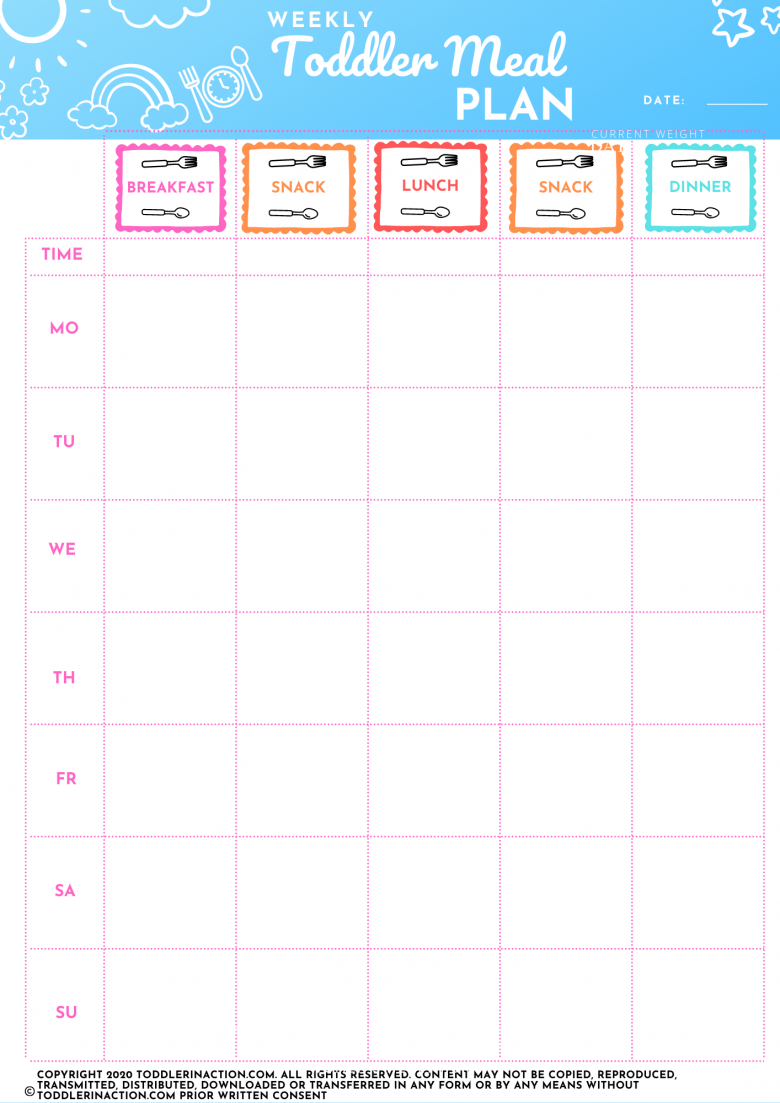 STAY AT HOME SCHEDULE MEAL PLAN