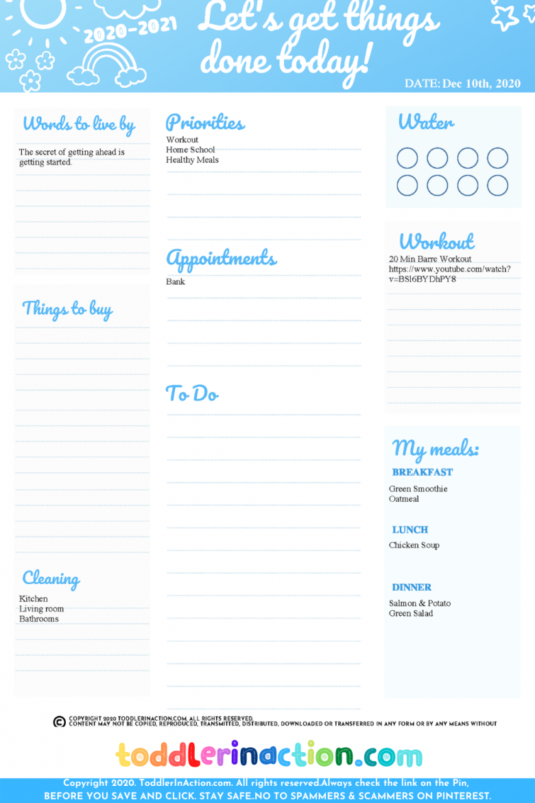 Easy Stay at Home Mom Planner1