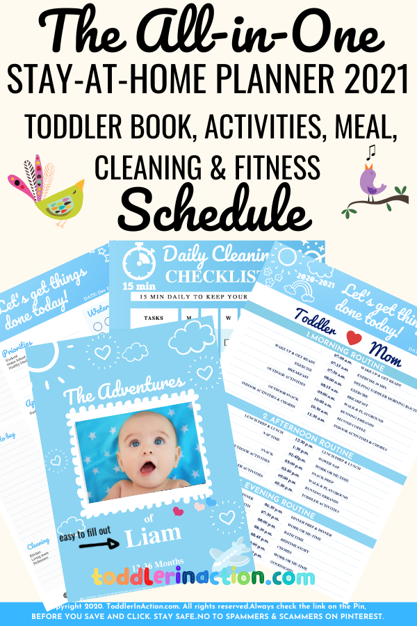 EASY STAY-AT-HOME SCHEDULE DAILY ROUTINES 2021 Printables
