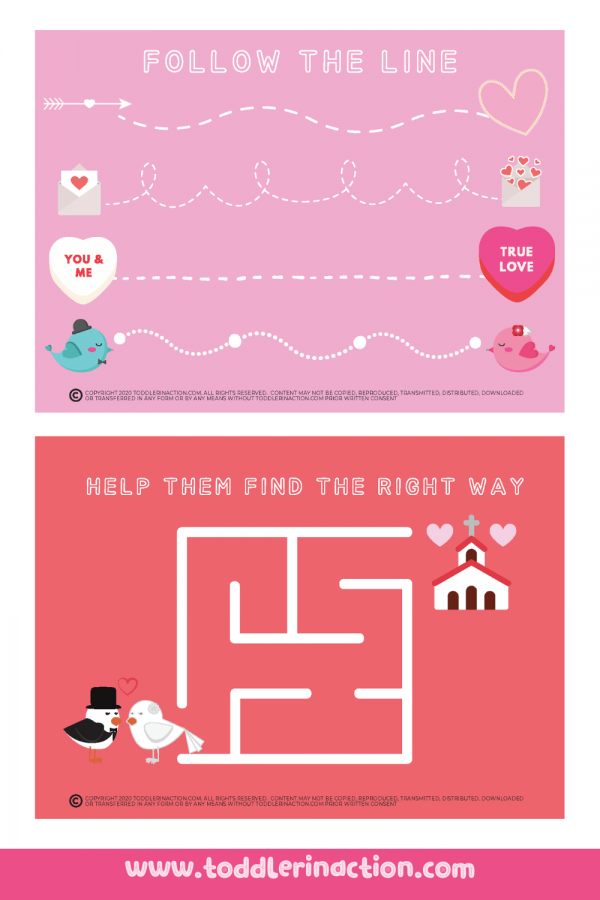Valentine's Day Preschool Worksheets DIY Cards4