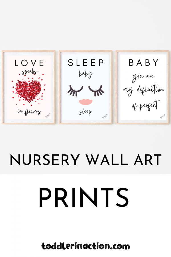 SET OF NURSERY DECOR WALL ART PRINTS, PRINTABLE