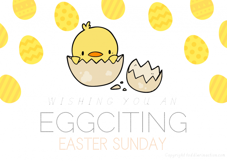 FREE EASTER ART CARDS FOR TODDLERS