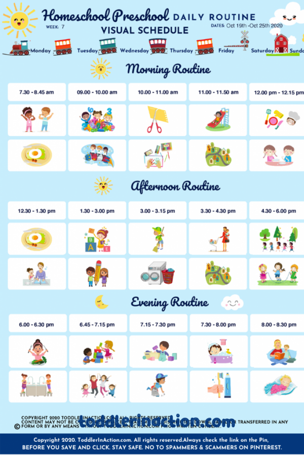 Home School Preschool Daily Routines
