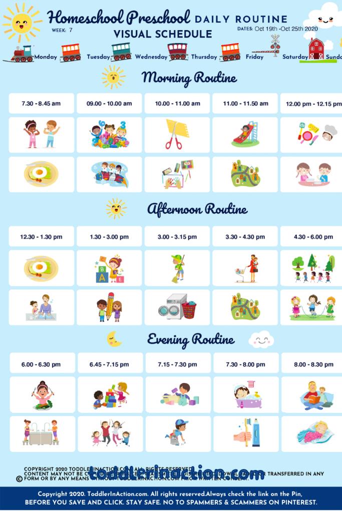 Home School Preschool Daily Routines